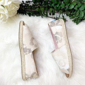 NWT | TOMS | Alpargata Open Toe Flat Shoes